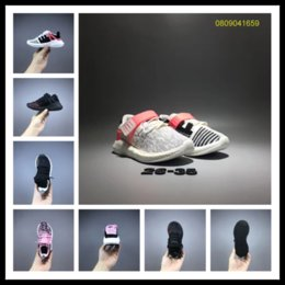Wholesale Performance Running - Epacket support kids EQT running shoes high performance discount children sneakers top quality youth run shoes y3factory EU 26-35