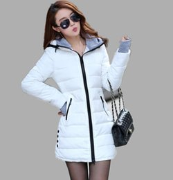 Wholesale Ladies Grey Down Winter Coat - High Quality Wadded Clothing Female 2016 New Women's Winter Jacket Down Cotton Jacket Slim Parkas Ladies Coats Plus Size Mens Girl XS-X