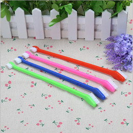 Wholesale Wholesale Sport Supplies - 200 PCS Fashion Pet Supplies Cat Puppy Dog Dental Grooming Toothbrush 4 Color Random Delivered PET