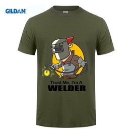 Wholesale Green Jobs - T Shirts Fashion 2017 Fitted T Shirtsmens Funny Cool Novelty Welder Job T-Shirts Joke Gifts Presents Ideas Tee Shirts