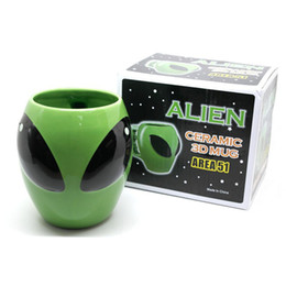 Wholesale Magical Mugs - 2017 Magical Alien Cup Cool interstellar People Ceramic Cup UFO Personalized Mug Dream Cup Free DHL XL-G238