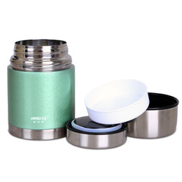 Wholesale Thermal Food Lunch Box - Haers Stainless Steel Lunch Box With Wide Mouth Thermal Insulated Jar Easy To Carry Leak Proof Container High Quality 62wl B R