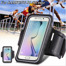 Wholesale Waterproof Arm Band - For Samsung S6 iPhone Adjustable SPORT GYM Armband Bag Case 11 Colors Waterproof Jogging Arm Band Mobile Phone Belt Cover