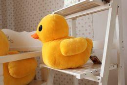 "Wholesale Cheap Farm Animals - Wholesale cheap 30cm(12"") Giant Yellow Duck Stuffed Animal Plush Soft Toys Cute Doll Pillow & Free Shipping"