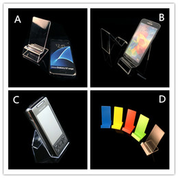 Wholesale Acrylic Price Stand - Acrylic cell phone MP3 cigarette DV GPS display stnad Mounts & Holders mobile phone display Stands Holder at good price wholesale