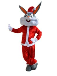 Wholesale Bugs Bunny Christmas - Professional Christmas Bugs Bunny Mascot Costumes Bugs Rabbit Hare Adult Fancy Dress Cartoon Suit