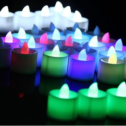 velas de tealight led sem chama Desconto 3.5 * 4.5 cm Bateria operado Flicker LED Tealight Chamas de Chá Luz Decoração de Natal Festa de Aniversário de Casamento