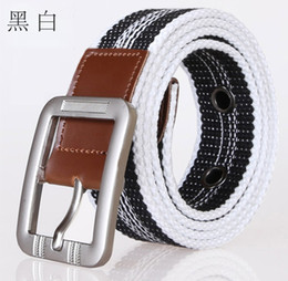 Wholesale Sports Needle - 20 piece lots sports Canvas belt needle buckle high quality canvas belt hip hop belts wholesale Universal Motion
