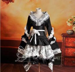 Costumi di natale vocaloid online-Anime nero Vocaloid cosplay Dress Loro Rita cameriera vestito costume di Halloween per le donne per la festa di natale