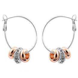 Gli orecchini coreani di marca di modo per gli orecchini di cristallo del cerchio dei gioielli dell'oro 18k della ragazza fanno con gli elementi di Swarovski Trasporto libero 1080 da