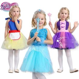 Wholesale Clothing Style Costumes Princess - Baby girls princess apron TuTu dress princess Dance clothes pinafore Kids Halloween costume 6 styles C2473