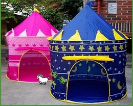 Princess palace toy en Ligne-Tente pour enfants Tente Prince et la Princesse Childrens Palais Château enfants jouer à l'intérieur de jouets de plein air Tente couleurs mélangées Belle Toy Play House