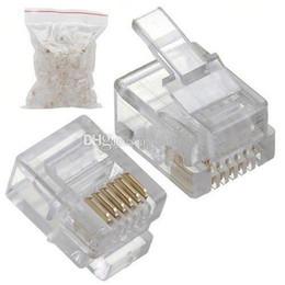 enchufes de banana de cobre Rebajas Tapones modulares RJ12 6P6C para conectores sólidos de 50 piezas H00037 OSTH