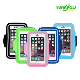 Wholesale Cellphone Sports Band For Running - For Iphone 8 Waterproof Sports Running Case Armband Running bag Workout Armband Holder Pounch For iphone 7 plus 6S CellPhone Arm Bag Band