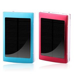 Wholesale Solar Power Charger Case - Solar Power Bank 5* 18650 Battery Charger Case Dual USB Box