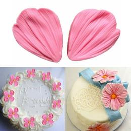 Wholesale Diy Mold Paste - 250pcs 3D Silicone Daisy Flower Petals Cake Baking Shaped Mold Fondant Sugargraft Gum Paste Soap Chocolate Decoration DIY Tool ZA0435