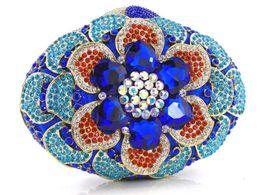 Wholesale Designer Silk Print Fabric - Rhinestone Crystal One Western Designer Crystal Evening Bag 4colors 2015 new arrival Free Shipping 0618B7