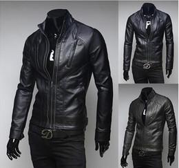 Wholesale Slim Fit Mens Black Cardigan - Stand Collar British Jacket For Mens Slim Fit Stylish Jacket Men Coats Multi Pockets Design Solid Cardigan Men Jacket Outwear J160923