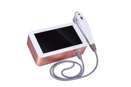 Wholesale portable ultrasound facial - High Quality Portable for Face & Neck HIFU High Intensity Focused Ultrasound Ultrasonic Knife Anti-aging Beauty Facial Machine