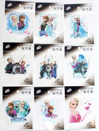 Wholesale Iron Clothes Stickers - Free Shipping New Arrival 100pcs Mixed Cartoon Frozen Character Anna Elsa Embroidered Iron On Patches For Clothing Sticker Garment Appliques