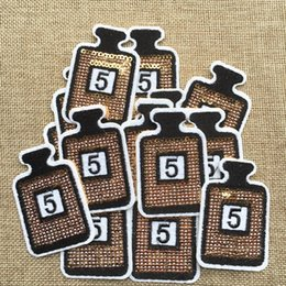 Wholesale Diy Clothes - Free Shipping~Sequin LOGO fashion Iron On Embroidered Patch Appliques DIY bag clothing patches Applique Badges