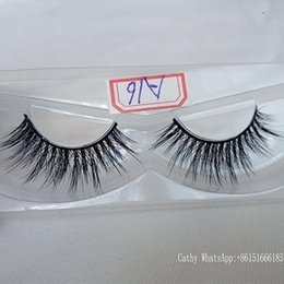 Wholesale Plastic Custom Labels - Natural long Eyelashes brand custom black fake lashes handmade Synthetic Eyelashes make-up private label free delivery