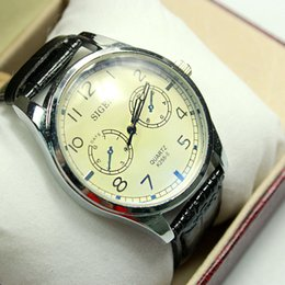 Wholesale Oriental Boxes - New Arrival Wristwatch Quartz Watch Unisex Leather Strap Oriental Simple Watches with Gift Box Free Shipping