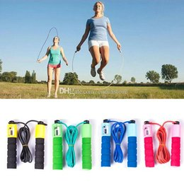 Wholesale Sponge Rubber Balls - Exercise Fitness Speed Skipping Jump Rope Automatic Counting sponge rubber F00387 SMAD