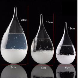 Sicherer regenschirm online-Wettervorhersage Crystal Tempo 3 Größen Tropfen Wasser Form Storm Glas Wetter Predictor Flasche Weihnachten Handwerk Kunst Geschenke
