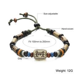 Wholesale China Designer Bangles - 2016 Spring Korean Designer Fashion Clay Beads Bracelet Beaded Strand Stretch Bracelets Bangles For Women Men Jewelry FBS004