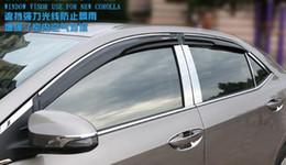Wholesale Quality Trim - High quality 4pcs black Windows visor,Rain eyebrow,rain block,shelter with bright trim for Toyota corolla,Levin 2014-2016
