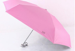 Wholesale Fabric Uv Protection - 2016 New Five-folding Umbrella sunshade Uv protection fold Pocket umbrella 16cmX7cm diameter 90cm free shipping HY1123
