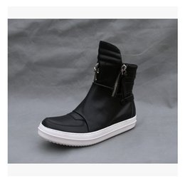 Wholesale Leather Black Men S Boots - New list Retro fashion boots fashion men 's shoes personality cross leather full leather tide shoes hip - hop couple shoes