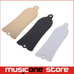 Wholesale Guitar Electric Acoustic - Acoustic Electric Bass Guitar 2 Hole Metal Truss Rod Cover Plate - Chrome - Black - Golden For Choose MU1308