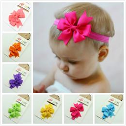 Wholesale Korean Hair Accessories Bow Fashion - Wholesale- 2016 new fashion hair ribbon bow flower Headband for Baby and korean Hair elastic Band Hair Accessories