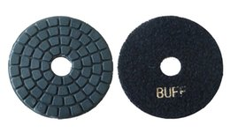 Wholesale Granite Diamond Pads - 4inch Diamond BUFFing pads for granite, white and black color