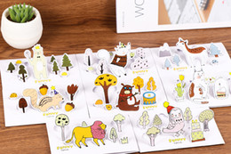 Wholesale Diy Lomo - Wholesale- DIY kawaii cartoon envelope with greeting card Holiday card for message Birthday Christmas lomo gift card