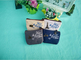 Wholesale Vintage Purse Coin Keychain - 2016 new Women's canvas bag Coin keychain keys wallet Purse change pocket holder organize cosmetic makeup Sorter