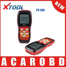 Wholesale Obdii Can Code Scanner - DHL Free shipping 2015 XTOOL PS100 Original CAN OBDII EOBDII scanner PS 100 diagnostic tool Free Shipping