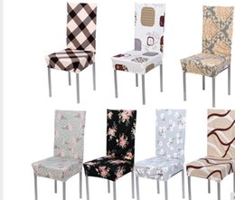Wholesale Fold Chair Covers - 2016 7 Color Cotton Blend Chair Covers Removable Stretch Elastic Slipcovers Home Stool Seat Folding Chair Cover Set