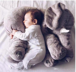 Wholesale Baby Shaping Pillow - 5 Color Elephant Pillow baby doll children sleep pillow birthday gift INS Lumbar Pillow Long Nose Elephant Doll Soft Plush 60*45*25cm