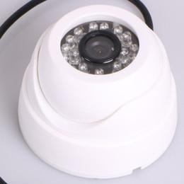 Wholesale Security Sensors Camera - Dome Surveillance CCTV Camera 7000TVL Wide Angle 3.6mm Lens CMOS Sensor High Resolution 24 IR Night Vision Security Camera White Black