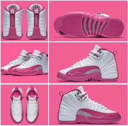 Recién llegado de cuero genuino N.12 GS Día de San Valentín zapatos de baloncesto para mujer Factory outlet original calidad rosa blanca bota deportiva para dama desde fabricantes