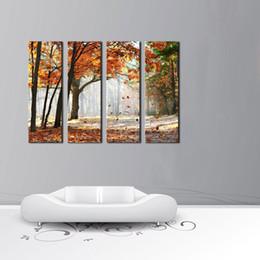 Wholesale Sun Painting Modern Art - Modern Canvas Painting Wall Art The Picture For Home Decoration Sun Rays Landscape Forest Print On Canvas Giclee Artwork For Wall Decor