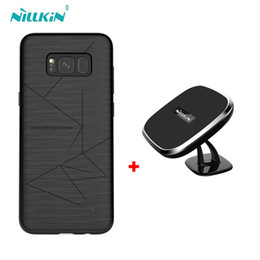 Wholesale Qi Wireless Charger Pad Black - For samsung galaxy s8 s8+ case NILLKIN qi wireless charger pad + Magnetic wireless charger receiver cover for galaxy s8 s8+