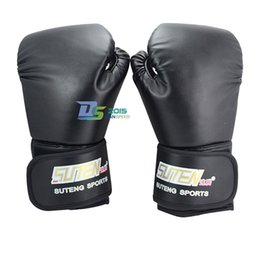 Wholesale Free Mma Gear - 2016 Free Shipping Adult MMA Sparring Grappling Sanda Training Boxing Gloves Black