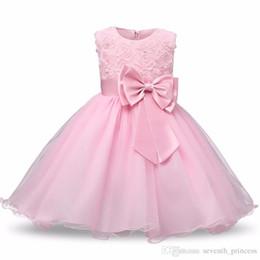 Wholesale tutu style wedding dress prom - 2017 Summer Tutu Wedding Birthday Party Dresses For Girls Children's Costume Teenager Prom Designs Princess Flower Girl Dress