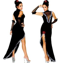 Wholesale Spain Dancing - Spain Gypsy Dance Dress Halloween Costumes Cospaly Party Evening Gowns Flamingo Cancun Performance Outfits