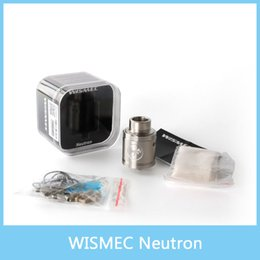Wholesale Unique Tank Tops - 100% Original WISMEC Neutron RDA Tank Atomizer 0.5ohm Neutron RDA Atomizer with Unique Vortex Flow Technology & Precise Top Airflow Control