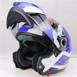 Wholesale Double Lens Helmet - 2016 New helmet motocross helmet motorcycle LS2 helmet double lens ff370 latest version have bag 100% Genuine LS2 ff370